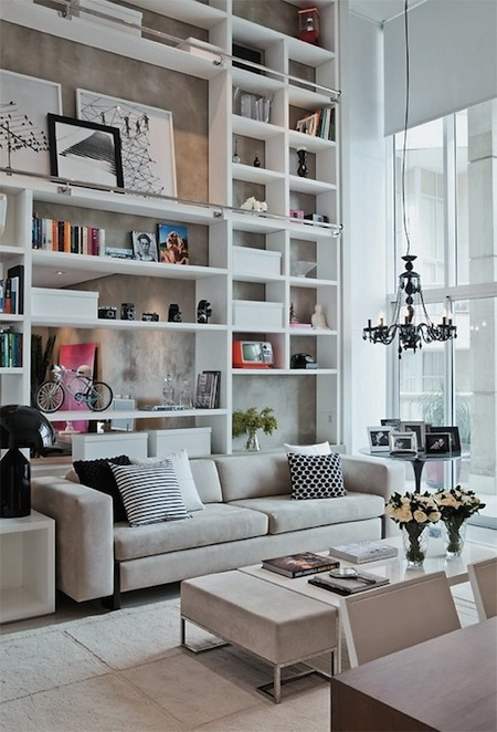 Wall Unit Designs For Small Room: Stunning Library Bookshelves - AphroChic