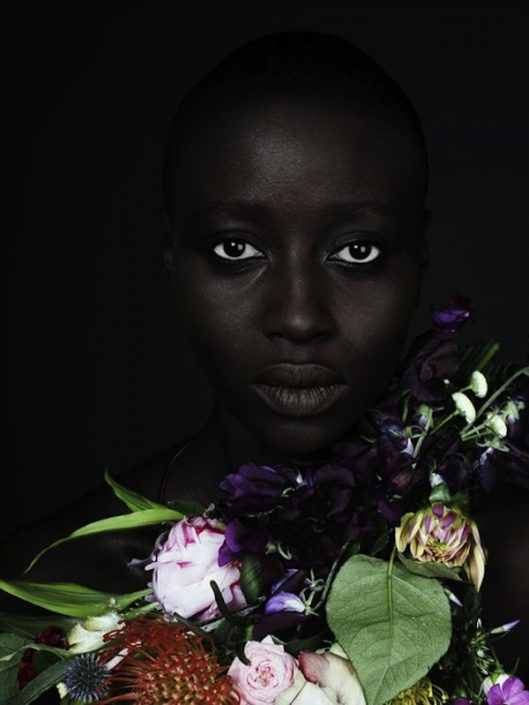 aphrochic - Black Woman With Garland Of Flowers