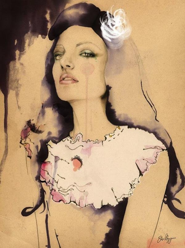AphroChic: Australian Artist Elisa Mazzone's Beautiful Fashion Illustrations