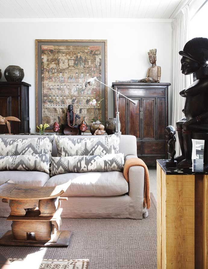 A johannesburg home filled with objet d 39 art aphrochic for Home decor johannesburg