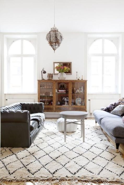 aphrochic - ben ourain rug