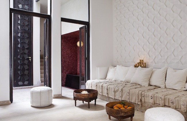 A luxurious moroccan boutique hotel aphrochic modern soulful style