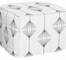 AphroChic Jumping the Broom Pouf in Black and White