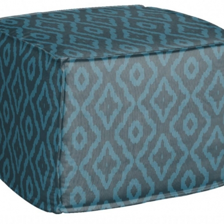 AphroChic Haze Pouf in Blue