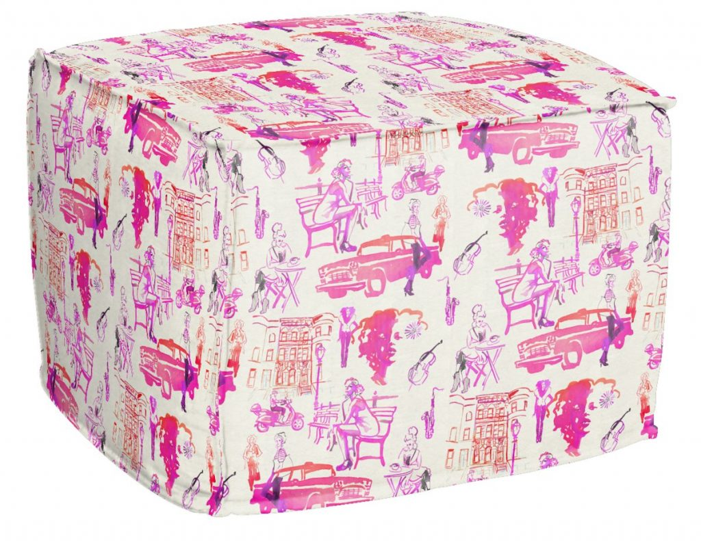 AphroChic Hustle Pouf in Fuschia