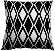 AphroChic Kuba Throw Pillow in Black and White