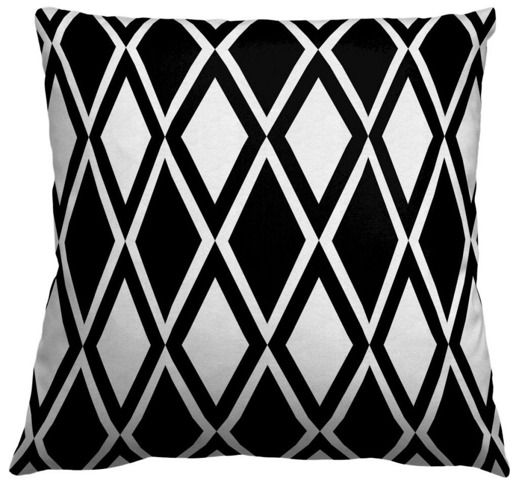 AphroChic Kuba Throw Pillow in Black and White