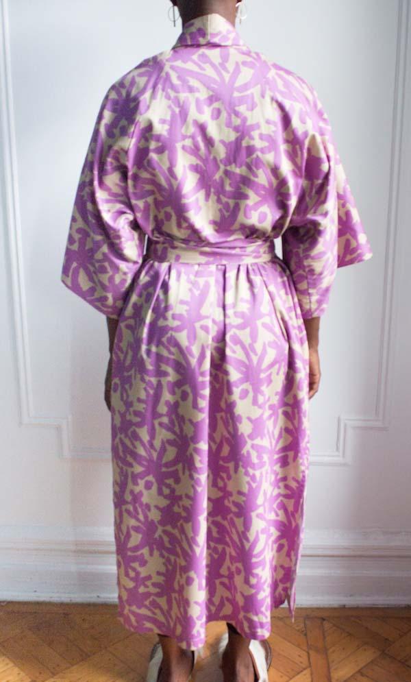 AphroChic Long Juju Kimono back view