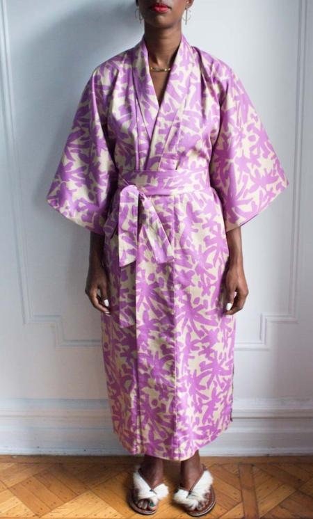 AphroChic Long Juju Kimono front view with belt