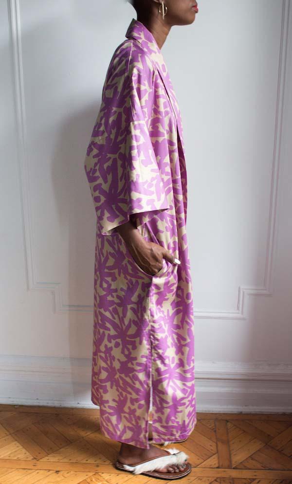 AphroChic Long Juju Kimono side view without belt