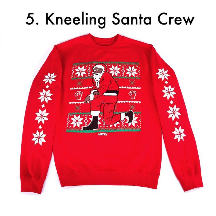 aphrochic - hstry nas kneeling santa crew sweatshirt