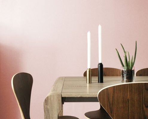 Aphrochic Paint Coney Island Pink Dining Room