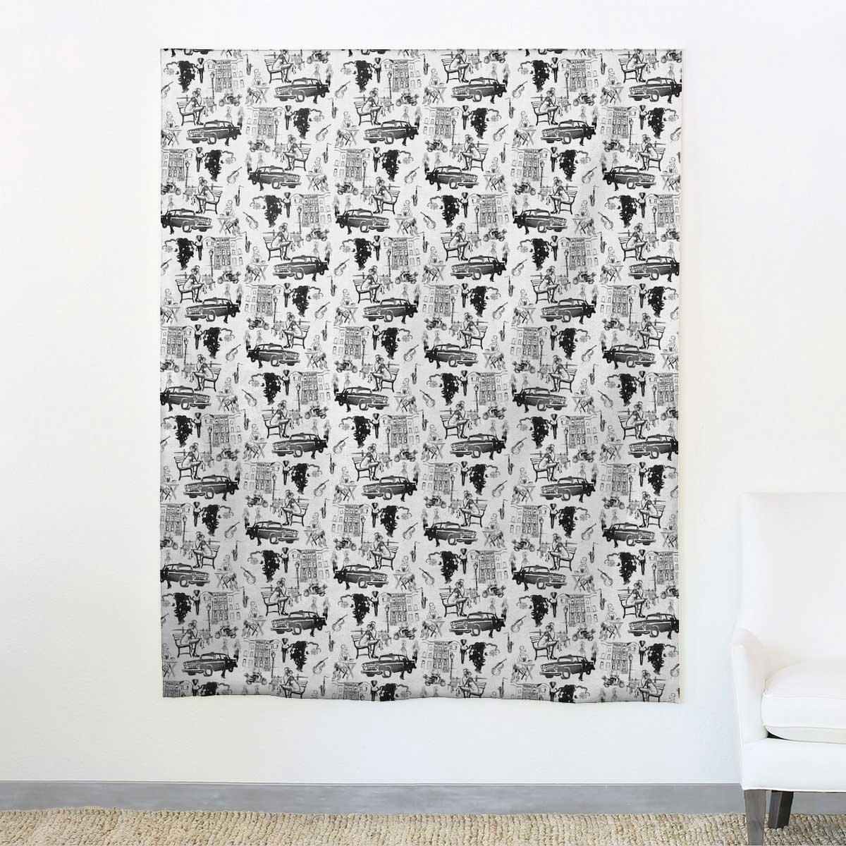 aphrochic - Hustle Black Fabric