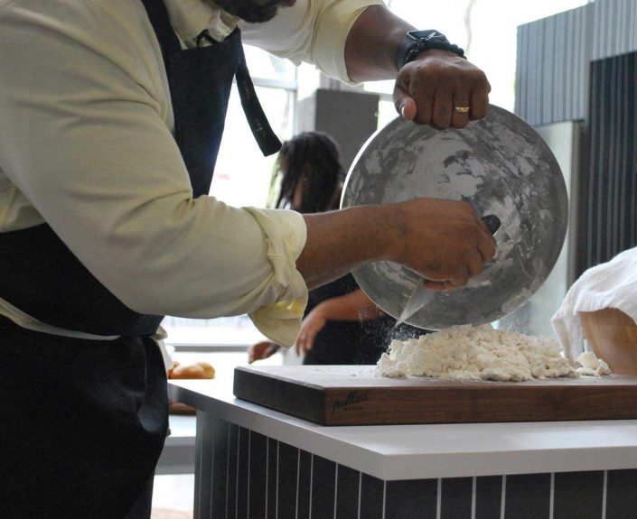 aphrochic - Chef Rashad Frazier Preparing Buttermilk Biscuits