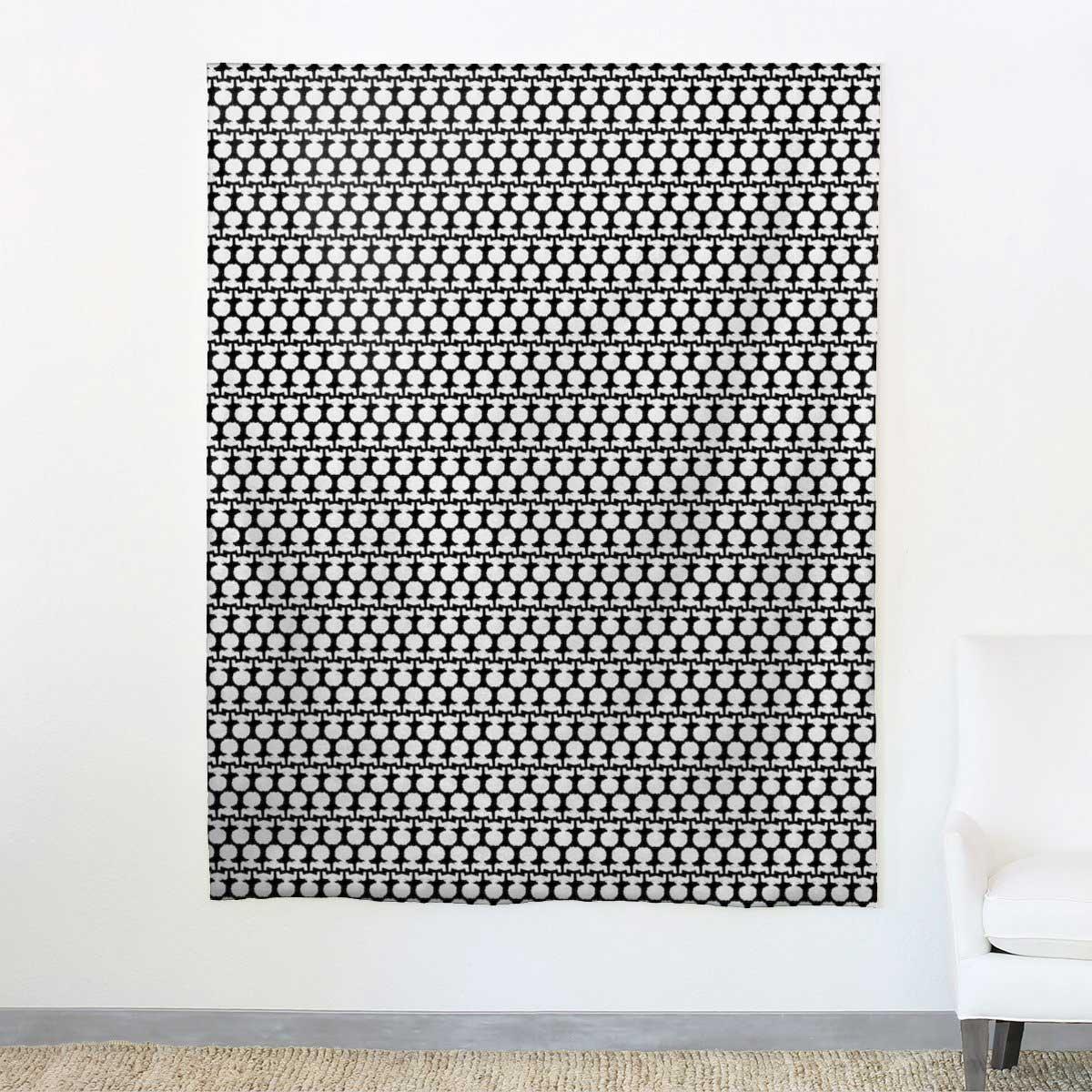 AphroChic Silhouette Petite Fabric in Black and White