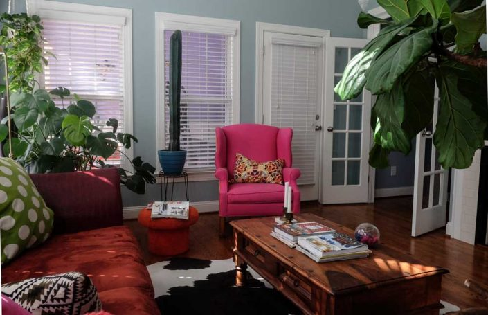 aphrochic - Stacey Blake North Carolina home Design Addict Living Room