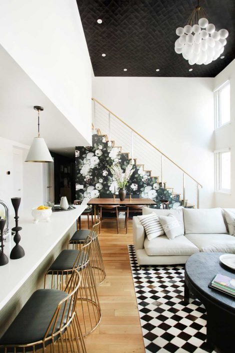 aphrochic - modern Brooklyn home living room