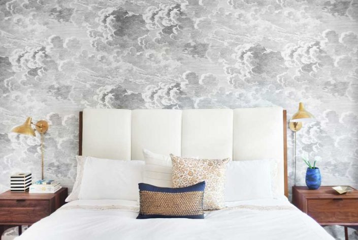 aphrochic - modern Brooklyn home bedroom wallpaper