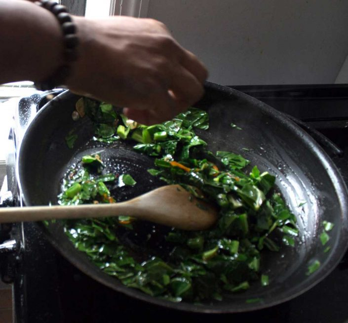 aphrochic - PulledTogether Winters End Sauteed Greens