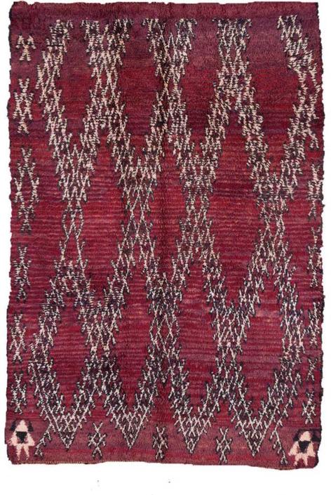 AphroChic Vintage Moroccan Rug Maroon
