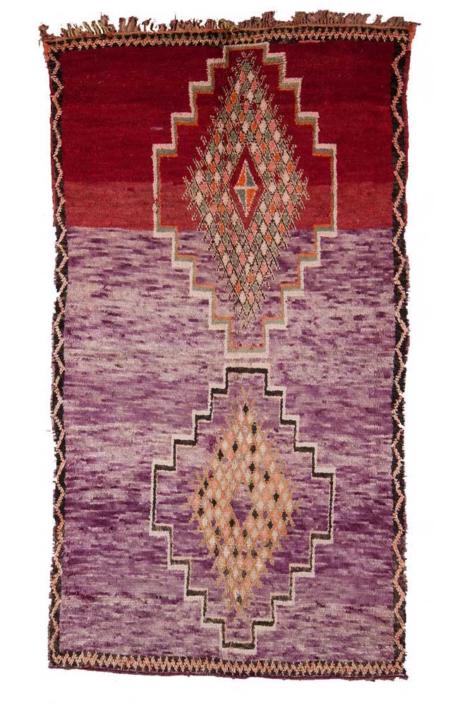 AphroChic Vintage Moroccan Rug Violet
