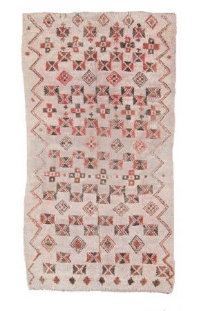 AphroChic Vintage Moroccan Rug Brick and Cream