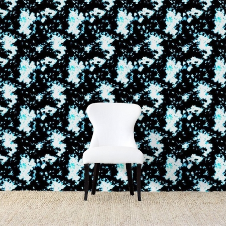 Batik Blue Wallpaper