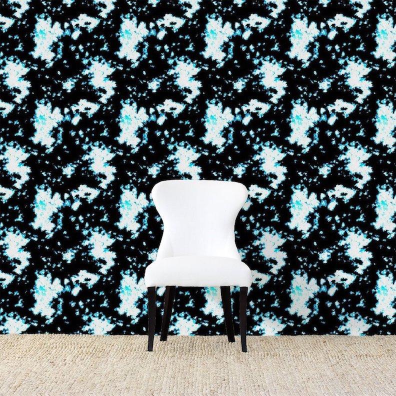 Batik Blue Wallpaper