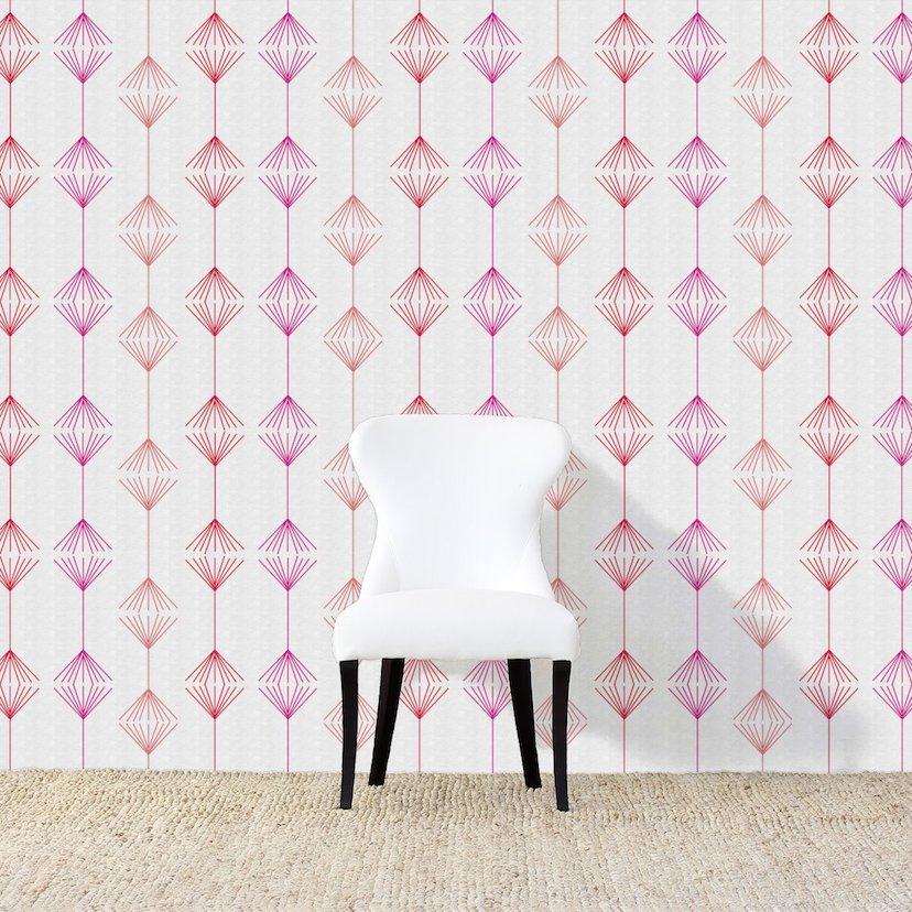 Broom Fuchsia Wallpaper