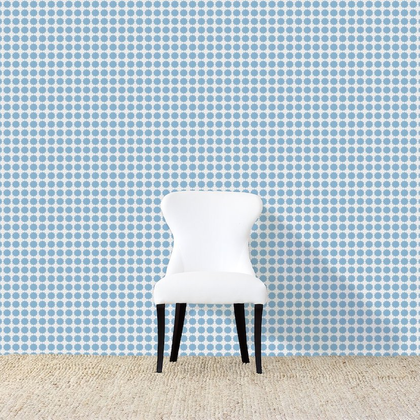Darro Light Blue Wallpaper