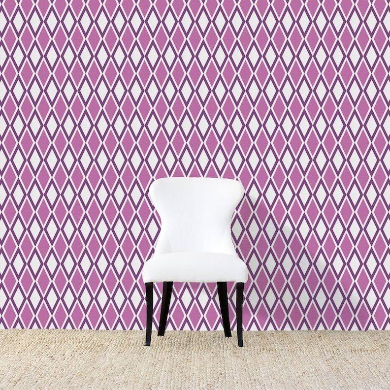 Kuba Purple Wallpaper