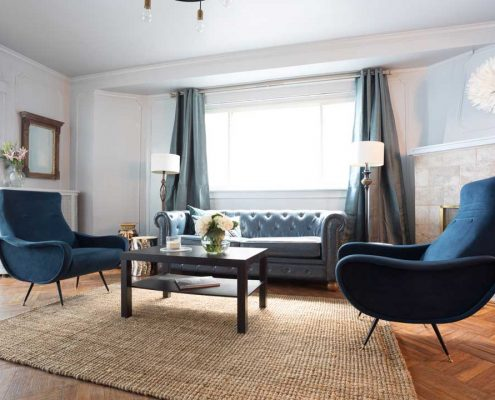 Belfield Blue Living Room