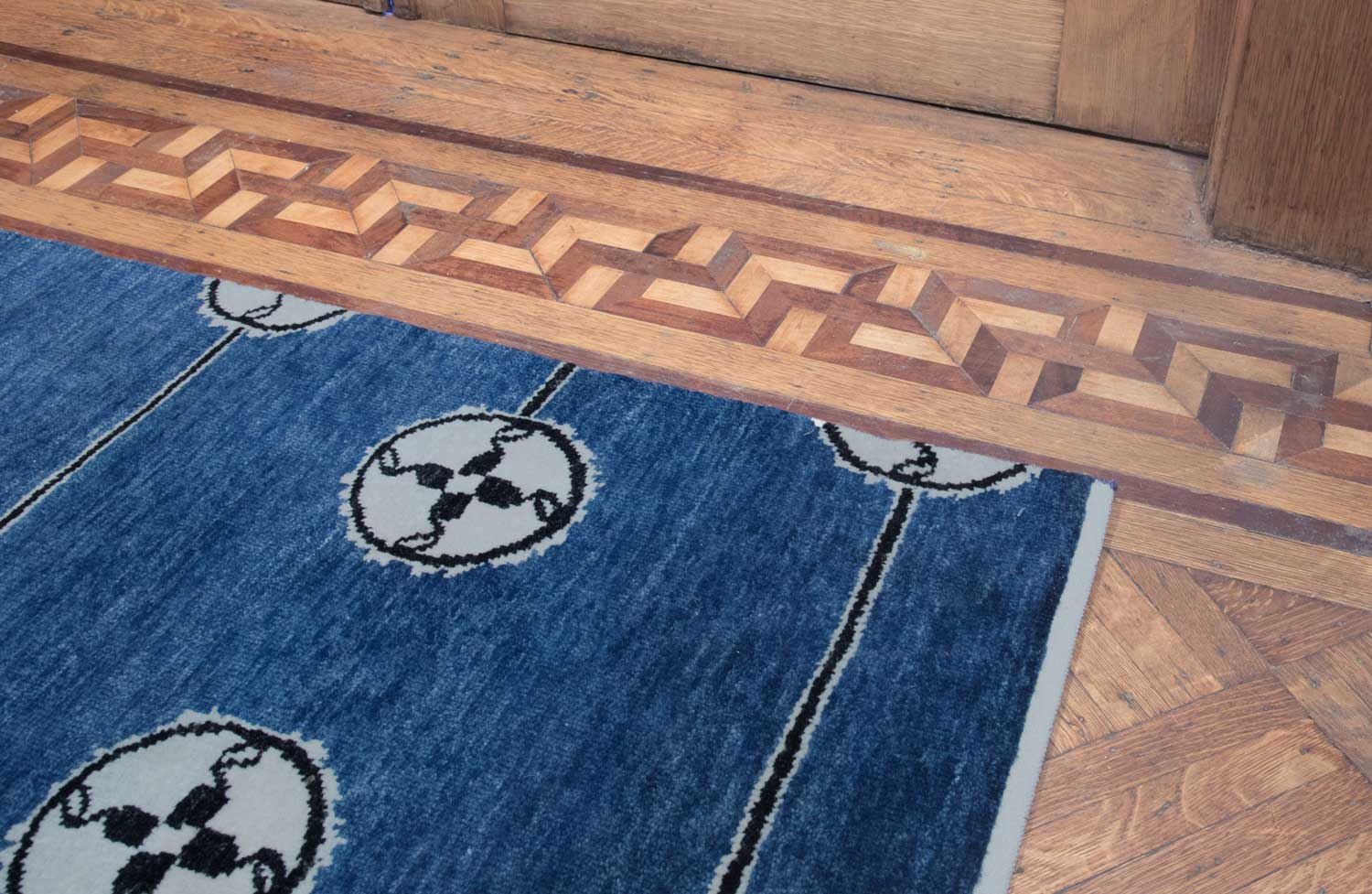 Day Rug Blue Library 2