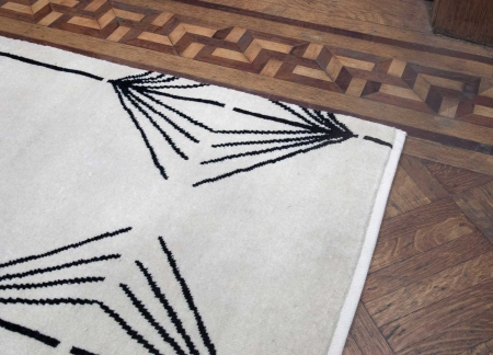 Jumping The Broom Rug Cream Library 2