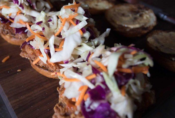 Fried Chicken Sandwich Coleslaw