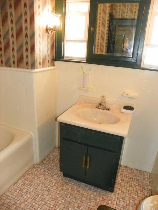 Bathroom Makeover Sink Before