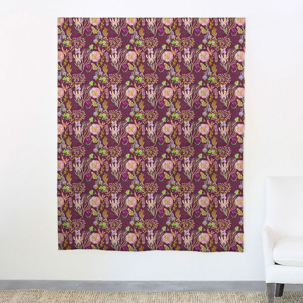 Ailey Fabric Maroonweb