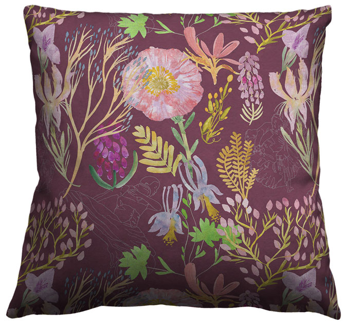 Ailey Pillow Maroonweb