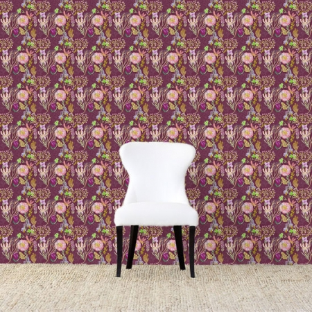 Ailey Wallpaper Maroonweb