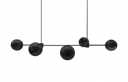 Chandelier Gunmetal Siloweb