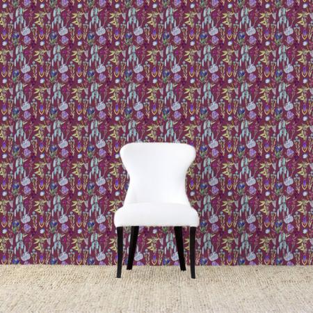 Dunham Wallpaper Maroonweb